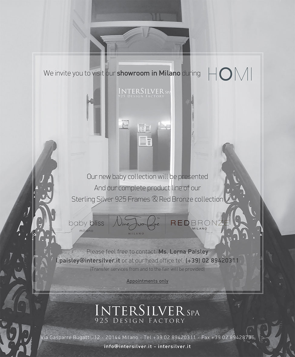 Visit our Showroom in Milano During HOMI MILANO | InterSilver
